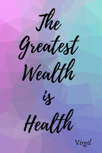 Wealth is health, promote good health with recipes, exercise and yoga