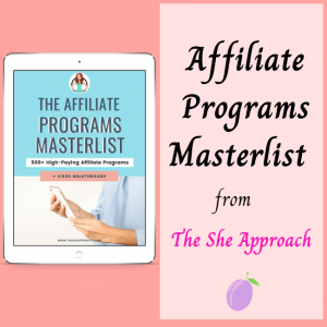 Master list of the best affiliate programs